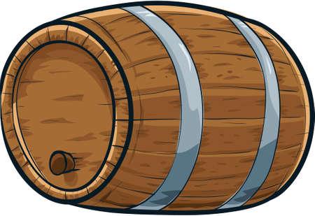Een solide, cartoon eiken vat met een kurk erin Stockfoto - 29156137