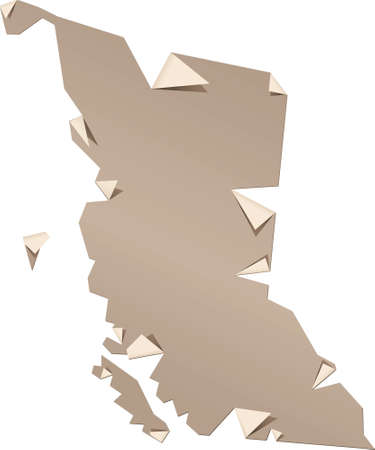 http: A torn and peeling paper map of the province of British Columbia, Canada Map source http   www lib utexas edu maps americas canada_pol_1986 gifCreated in Adobe Illustrator CS3 on 4 10 2009  Layers used  outlines  Stock Photo
