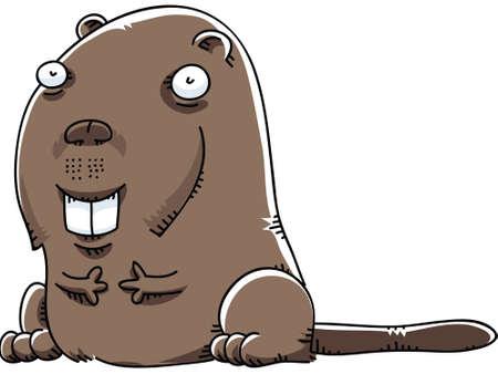A cartoon beaver Stock fotó - 29156223