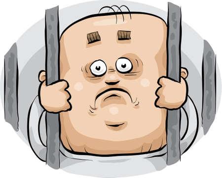 漫画囚人見える悲しいことに棒の後ろから