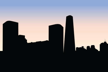 bejing: Skyline silhouette of the city of Bejing, China