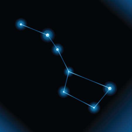 A vector illustration of the Big Dipper star constellation  illustration