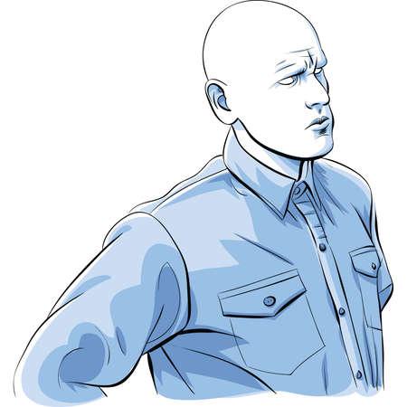 An illustration of a strange, bald mutant man.