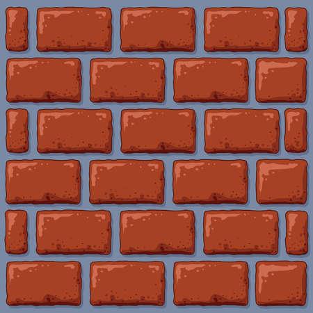 A cartoon backdrop of a brick wall