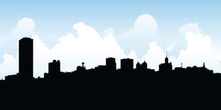 Skyline silhouette of the city of Buffalo, New York, USA  photo
