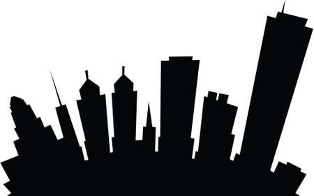 Cartoon skyline silhouette of the city of Buffalo, New York, USA