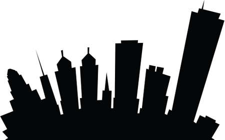 Cartoon skyline silhouette of the city of Buffalo, New York, USA  photo