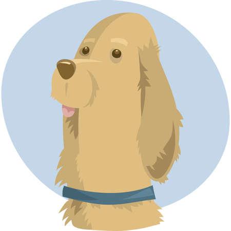A furry cartoon dog portrait.