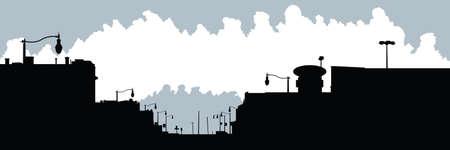 quaint: Skyline silhouette of the village of Dutton, Ontario, Canada.