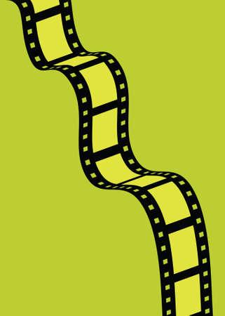 다채로운 프레임이있는 필름 스트립의 그림. 일러스트