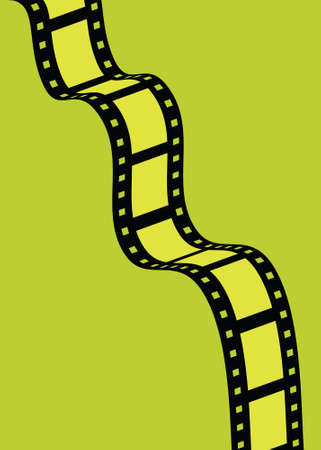 negative film: Illustration of a strip of film with colorful frames.
