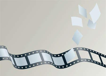 프레임의 그림은 필름 스트립에서 멀리 떠있다.