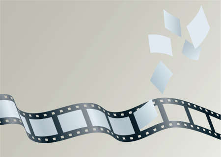Illustration of frames float away from a strip of film.