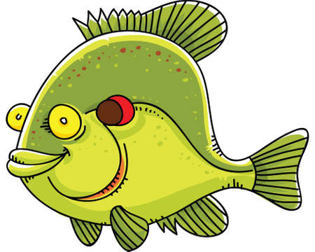 sunfish: A happy, cartoon sunfish.