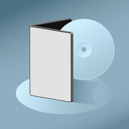 case: Illustration of disc media and a container case. Illustration