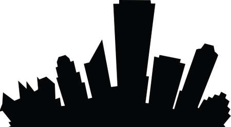 Cartoon skyline silhouette of the city of Edmonton, Alberta, Canada.