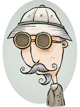 anthropologist: An old-fashioned cartoon explorer.