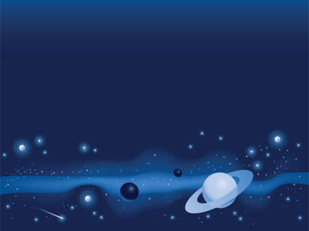 Illustration of objects in deep space Stock fotó - 29520413