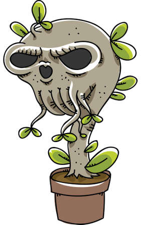 genetically modified organisms: A genetically-modified plant that grows a skull  Stock Photo