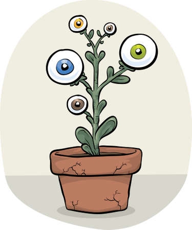 A genetically-modified plant that grows eyes
