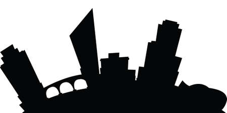 grand rapids: Cartoon skyline silhouette of the city of Grand Rapids, Michigan, USA