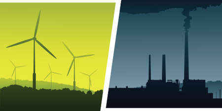 compared: Green energy option compared to polluting fossil fuels