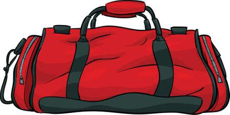 A red, cartoon gym bag Stok Fotoğraf - 29520778