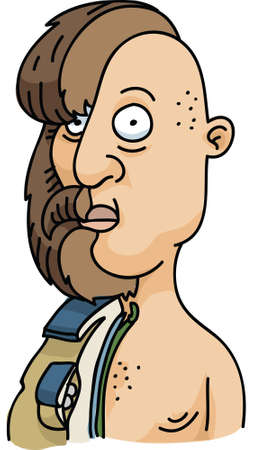 A cartoon cross-section of a man