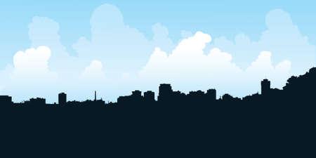hamilton: Skyline silhouette of the city of Hamilton, Ontario, Canada  Stock Photo