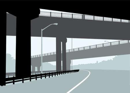 hamilton: A highway running under three overpasses