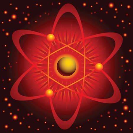 PROTON: A cartoon atom, red and hot.