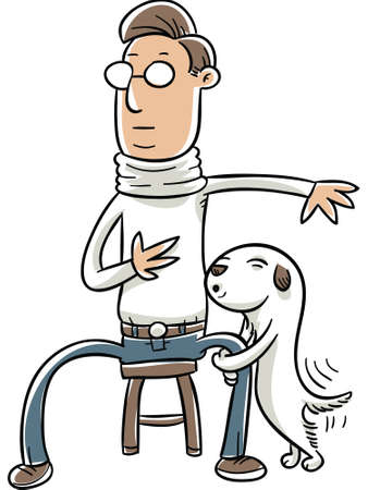 inappropriate: A cartoon dog humping a sitting man