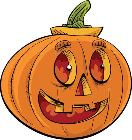 jack o: A smiling, friendly jack o lantern.