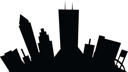 jacksonville: Cartoon skyline silhouette of the city of Jacksonville, Florida, USA.