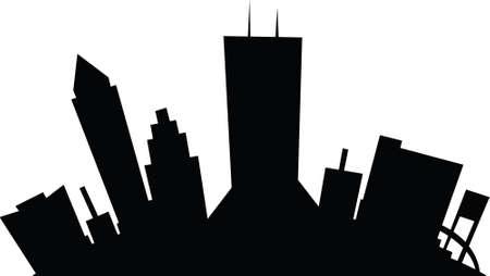 Cartoon skyline silhouette of the city of Jacksonville, Florida, USA.