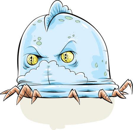 A strange alien, cartoon jelly creature.