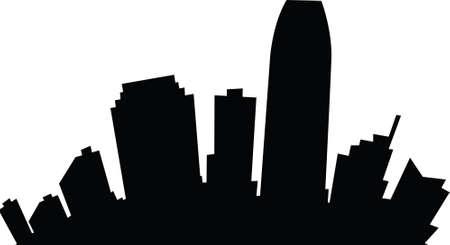 jersey: Cartoon skyline silhouette of the city of Jersey City, New Jersey. Illustration