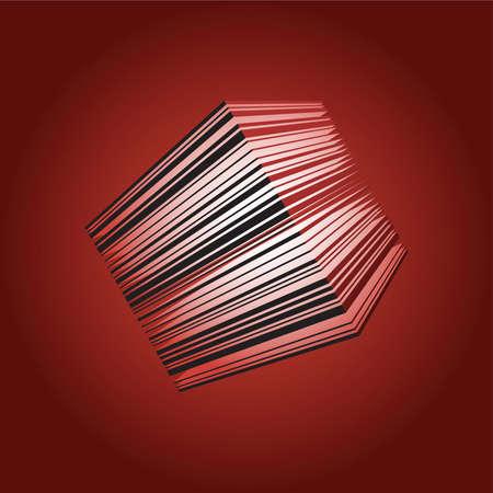A striped, glowing cube lantern element.