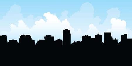 ontario: Silhouette skyline della citt� di London, Ontario, Canada. Vettoriali