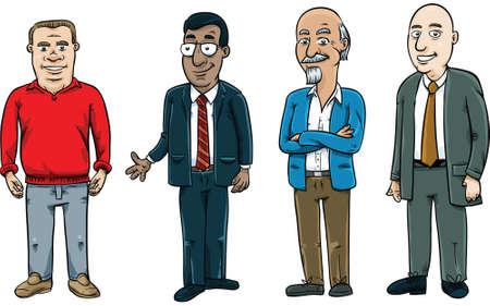 Un ensemble d'hommes favorables à la bande dessinée.