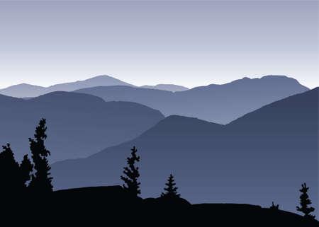 ny: View across the Adirondack Mountains, near Lake Placid, NY.