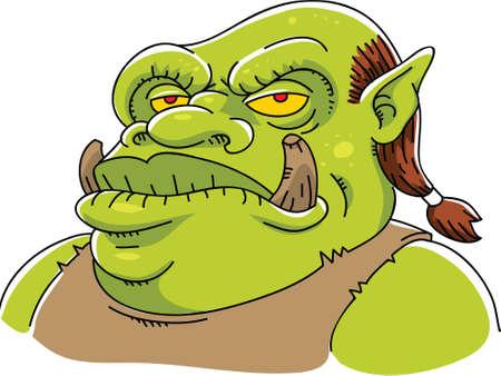 dangerous man: A mean, cartoon mythical beast.