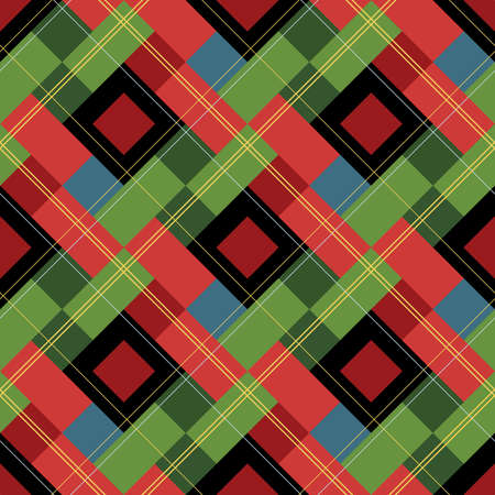 A swatch tile of plaid.
