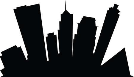 memphis: Cartoon skyline silhouette of the city of Memphis, Tennessee, USA.