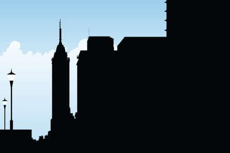 mexico city: Skyline silhouette of Mexico City, DF, Mexico. Illustration