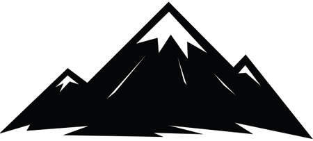 Illustrated icon of a sharp peaked mountain.