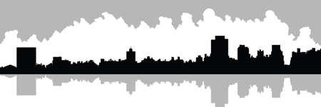 central park: Silueta Skyline de Upper East Side en Nueva York, EE.UU.. Ver a trav�s de dep�sito en Central Park.