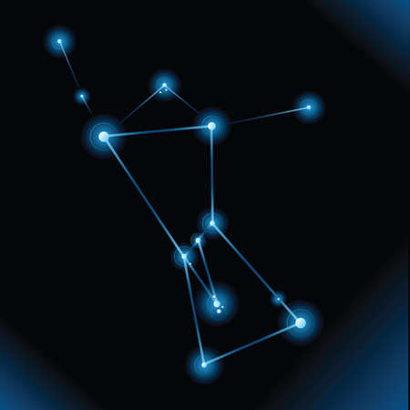 orion: Illustration of the star constellation of Orion. Illustration