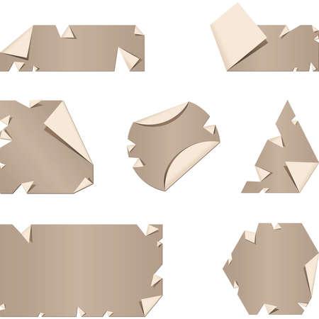 peeling: A set of peeling, paper labels