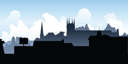main street: Skyline silhouette of the town of Pembroke, Ontario, Canada.